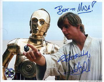 Star Wars Autograph Mark Hamill Luke Skywalker